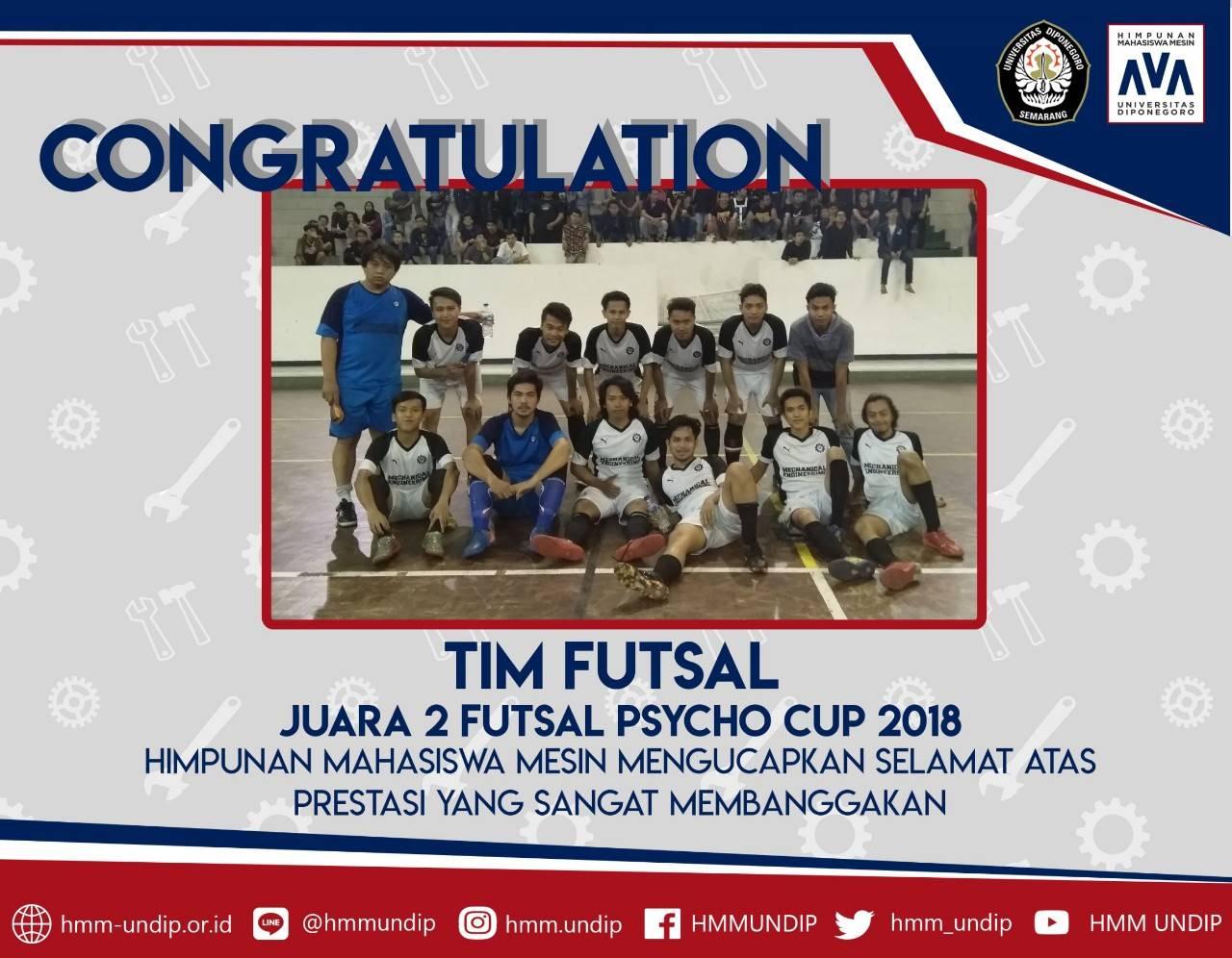 Tim Futsal-Badminton-Volly HMM Juara 2 dalam Pychco Cup 2018 dan Cancas 2018
