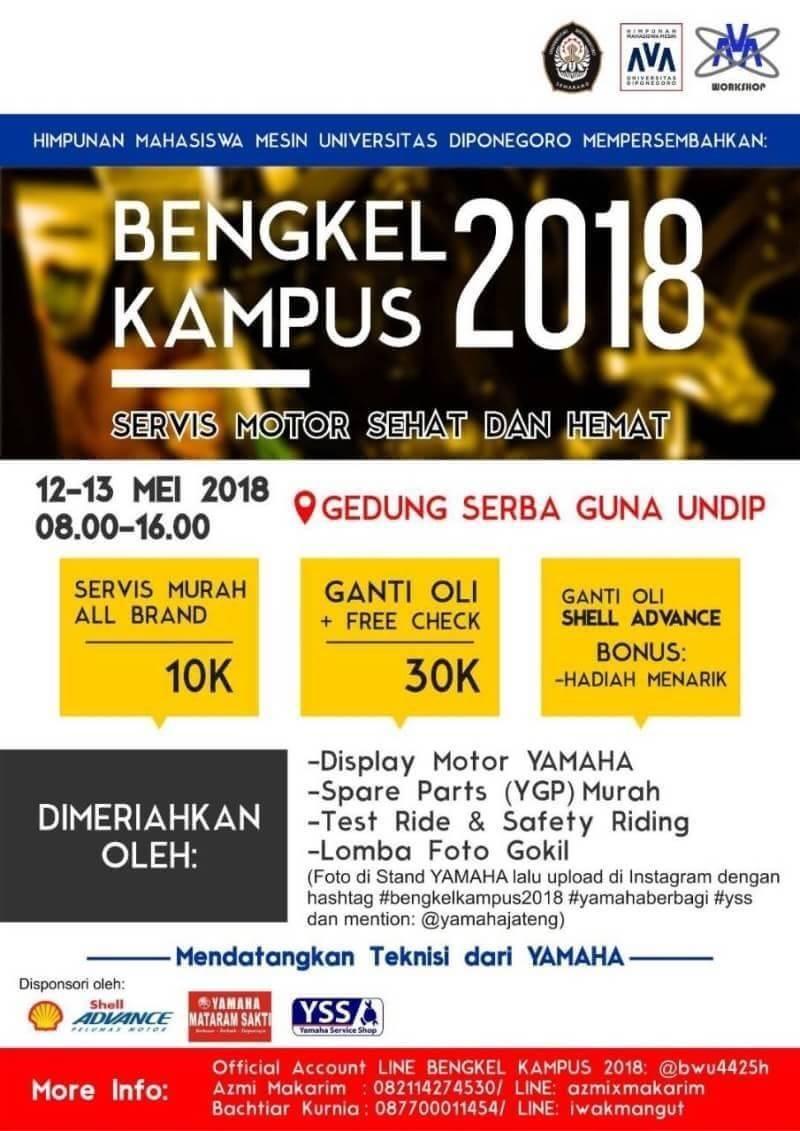 Bengkel Kampus 2018 Mahasiswa Teknik Mesin Undip